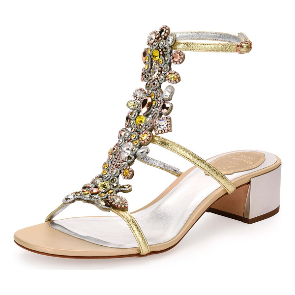 RENE CAOVILLA Jeweled Snakeskin T-Strap Sandal - ONLYATNM Only Here. Only Ours. Exclusively for You. Rene...