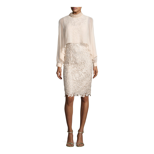 RICKIE FREEMAN FOR TERI JON Long-Sleeve Floral Lace Cocktail Dress - ONLYATNM Only Here. Only Ours. Exclusively for You. Rickie...