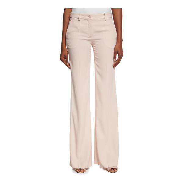 ROBERTO CAVALLI Satin-Stripe Wide-Leg Pants - Roberto Cavalli pants with tonal satin stripe along outer...