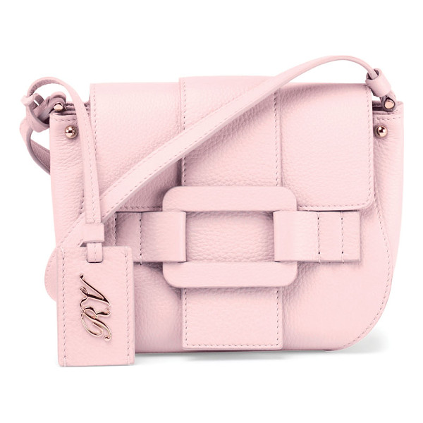 ROGER VIVIER Pilgrim De Jour Leather Crossbody Bag - Roger Vivier pebbled leather crossbody bag. Golden