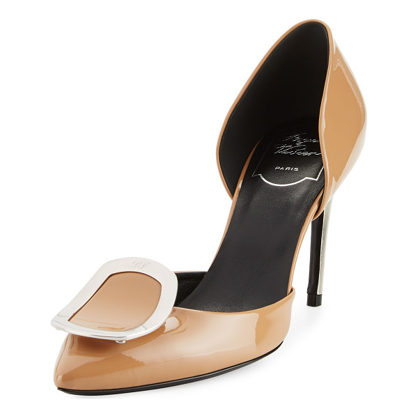 "ROGER VIVIER Sexy Choc d'Orsay 85mm Pump - Roger Vivier patent leather pump. 3.3"" covered heel."