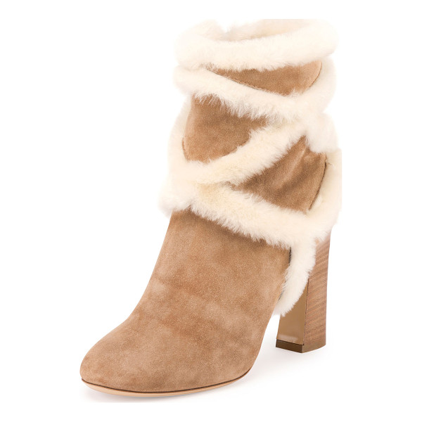 ROGER VIVIER Trompette Shearling 100mm Bootie - ONLYATNM Only Here. Only Ours. Exclusively for You. Roger...