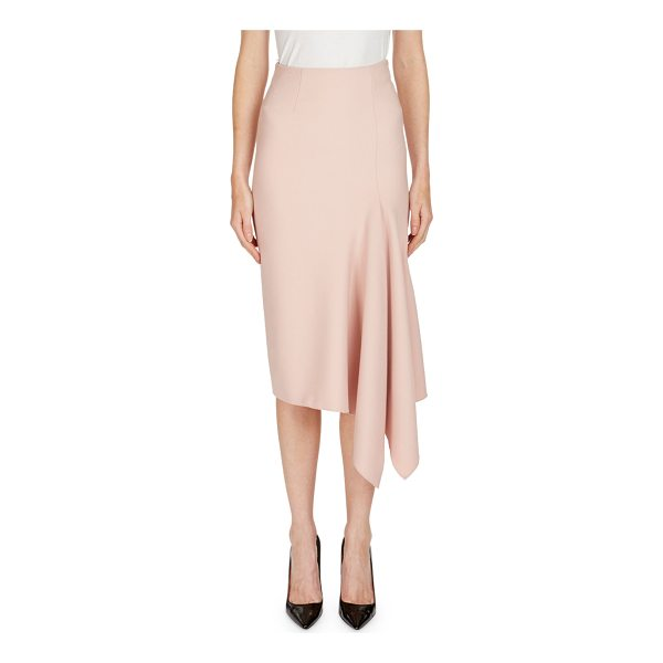 "ROLAND MOURET Morpeth Crepe Pencil Skirt with Asymmetric Side Drape - Roland Mouret ""Morpeth"" crepe skirt with an asymmetric side..."