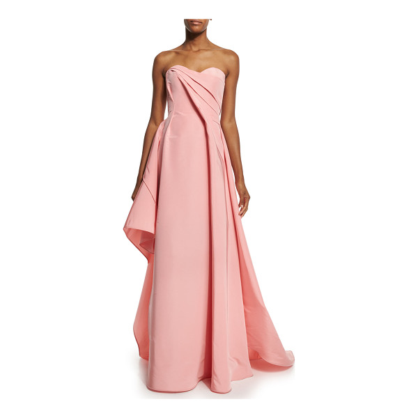"RUBIN SINGER Strapless Sweetheart-Neck Draped Gown - Rubin Singer silk faille gown. Approx. 56.5""L down center..."