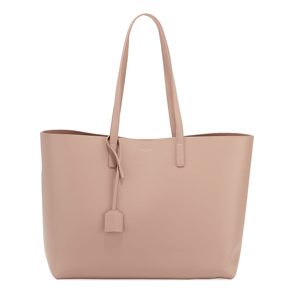 SAINT LAURENT Large East-West Shopping Tote Bag - Saint Laurent semi-structured leather shopping tote bag....