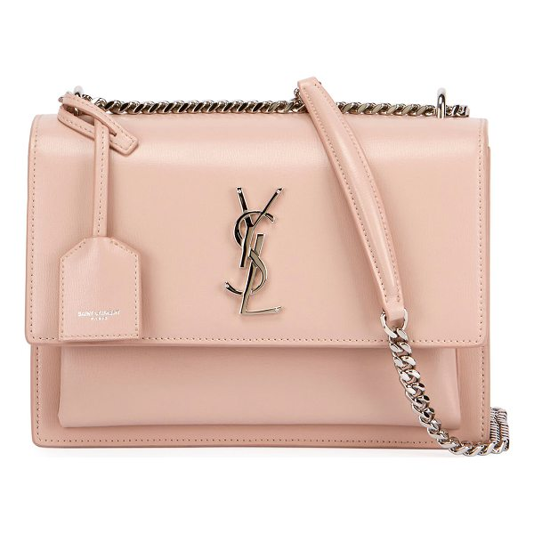 SAINT LAURENT Sunset Medium Monogram Crossbody Bag - Saint Laurent crossbody bag in calfskin grain leather....
