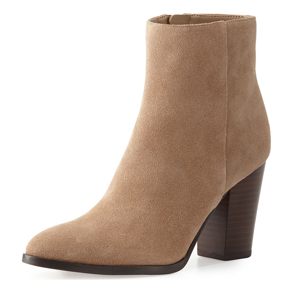 "SAM EDELMAN Blake suede ankle boot - Sam Edelman suede ankle boot. 3. 5"" stacked block heel; 6""H..."