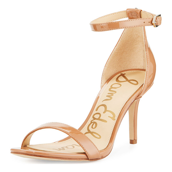 "SAM EDELMAN Patti Patent Evening Sandal - Sam Edelman patent leather d'Orsay sandal. 3"" covered heel."