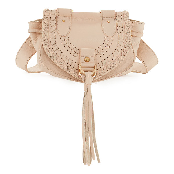 SEE BY CHLOE Collins Fringe Leather Saddle Bag - See by Chloe pebbled leather messenger bag. Removable,...