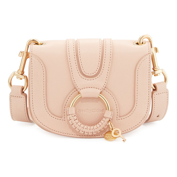 SEE BY CHLOE Hana Small Ring Saddle Bag - See by Chloe leather saddle bag. Golden hardware....