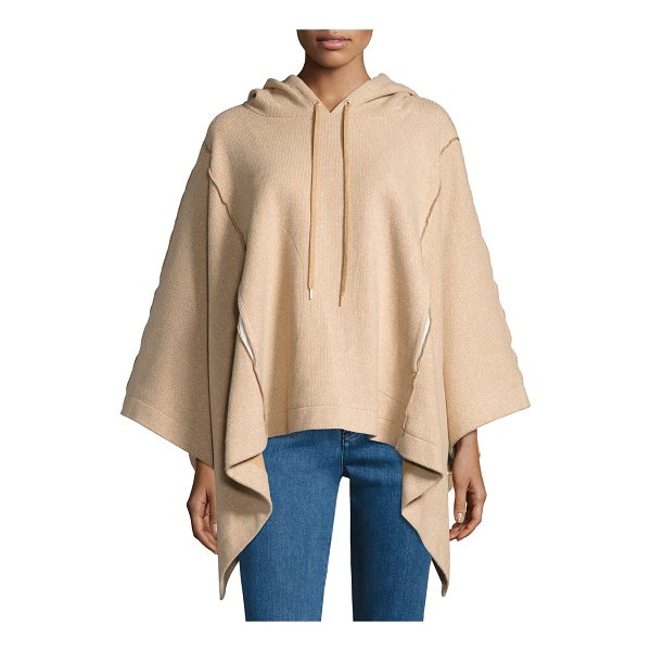 SEE BY CHLOE Hooded Rib-Knit Poncho - See by Chloe poncho in soft ribbed knit with exposed seam...