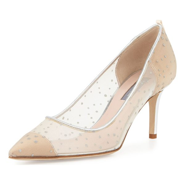 SJP BY SARAH JESSICA PARKER Glass 70mm Mesh Pump - SJP by Sarah Jessica Parker mesh pump with glitter dots....