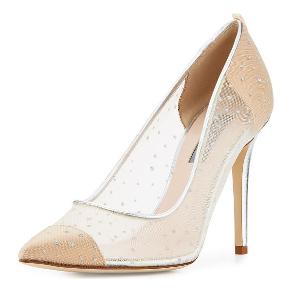 SJP BY SARAH JESSICA PARKER Glass Mesh 100mm Pump - SJP by Sarah Jessica Parker mesh pump with glitter dots.
