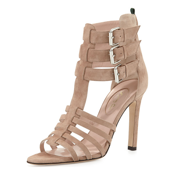 """SJP BY SARAH JESSICA PARKER Lola strappy suede sandal - SJP by Sarah Jessica Parker suede sandal. 4"""" stiletto heel...."""
