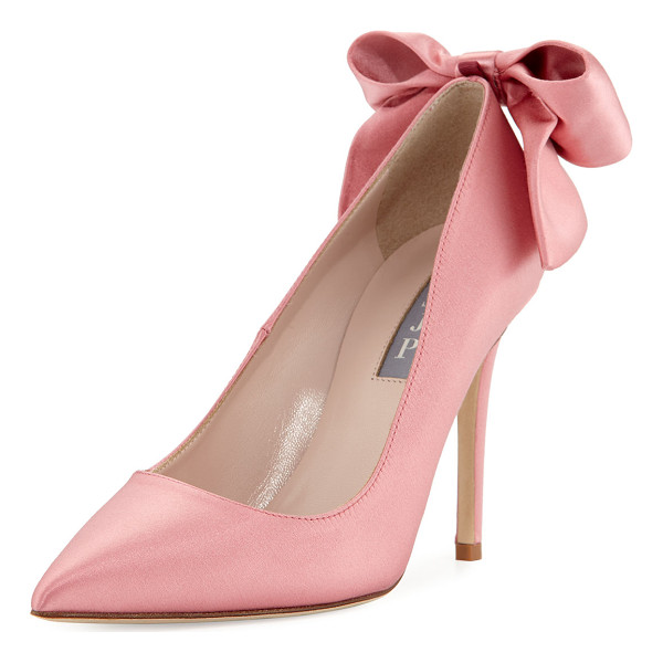 "SJP BY SARAH JESSICA PARKER Lucille Satin Bow Pump - SJP by Sarah Jessica Parker satin pump. 4"" covered heel."