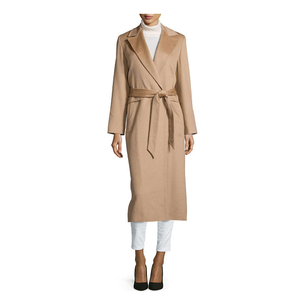 SOFIA CASHMERE Long wrap camel-hair coat - Sofia Cashmere camel hair coat. Notched collar; wrap front....