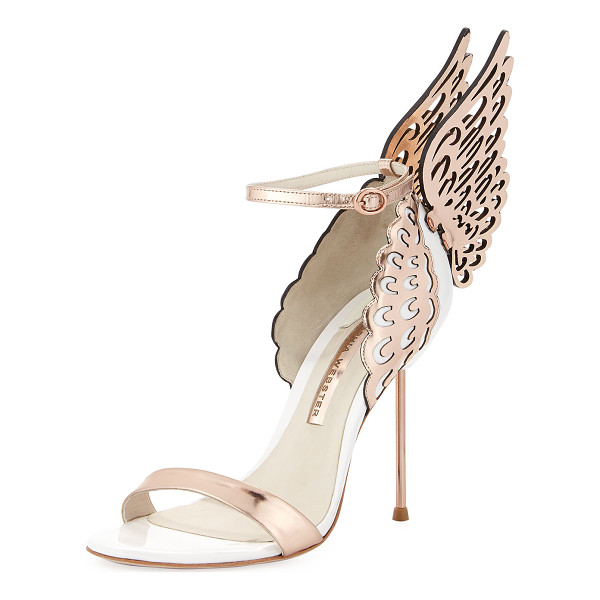"SOPHIA WEBSTER Evangeline Angel Wing Sandal - Sophia Webster ""Evangeline"" sandal in patent and metallic"