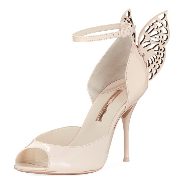 SOPHIA WEBSTER Flutura Patent Butterfly Wing Sandal - EXCLUSIVELY AT NEIMAN MARCUS Sophia Webster high sandal in...
