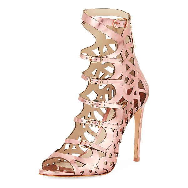 SOPHIA WEBSTER Gia Cutout Strappy Sandal Bootie - Sophia Webster cutout sandal bootie in mirrored calf...
