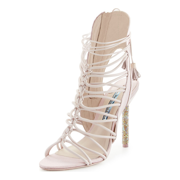 SOPHIA WEBSTER Lacey Crystal Bridal Sandal - Sophia Webster shimmery fabric and leather sandal from the...
