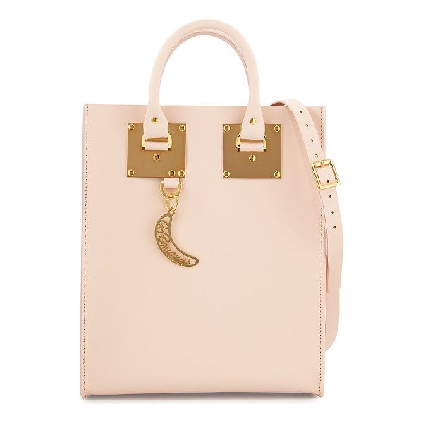 SOPHIE HULME Albion Mini Go Bananas Tote Bag - Sophie Hulme structured leather tote bag. Gold-plated brass...