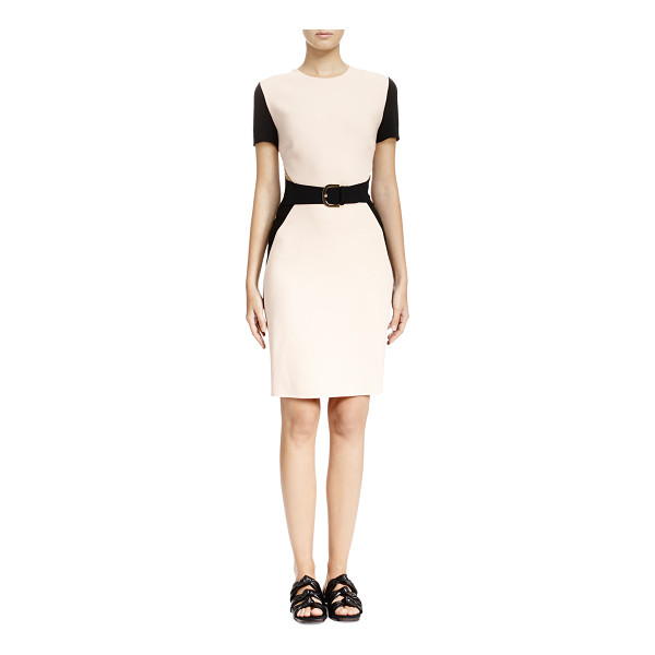 STELLA MCCARTNEY Colorblock mesh-inset sheath dress - Stella McCartney colorblock stretch-knit dress. Round...