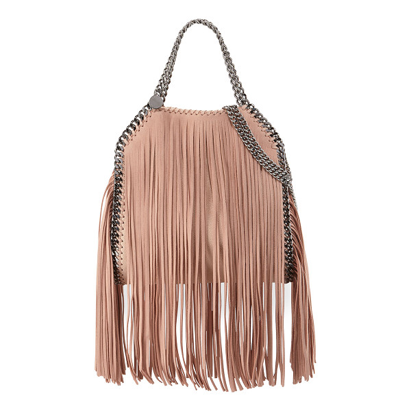 STELLA MCCARTNEY Falabella Mini Fringe Tote Bag - Stella McCartney faux-leather (polyester) tote bag with...