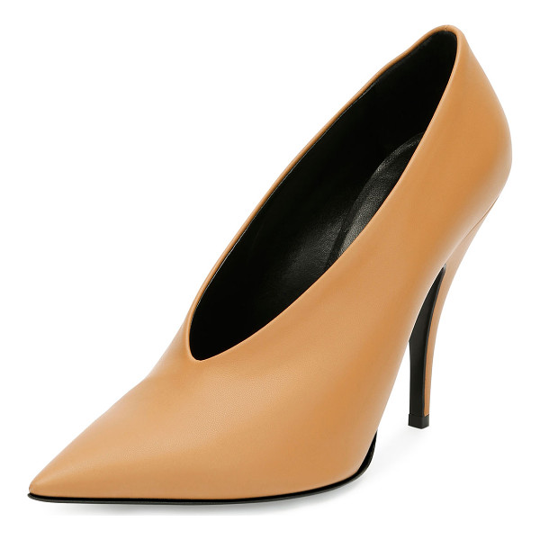 STELLA MCCARTNEY High-Vamp Pointed-Toe Pump - Stella McCartney faux-leather