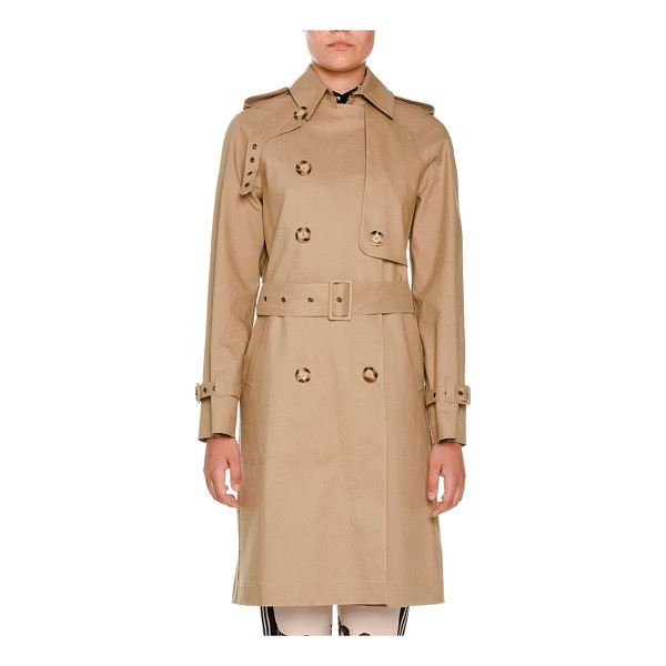 "STELLA MCCARTNEY Macintosh Cotton Trenchcoat - Stella McCartney ""Macintosh"" twill trenchcoat with..."