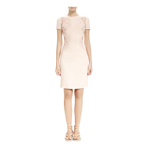 STELLA MCCARTNEY Sheer cloud-embroidered applique dress - Stella McCartney woven dress with sheer cloud-embroidered...