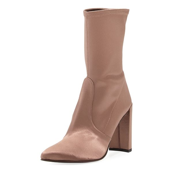 STUART WEITZMAN Clinger Stretch-Satin Mid-Calf Boot - EXCLUSIVELY AT NEIMAN MARCUS Stuart Weitzman mid-calf boot...
