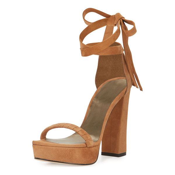 STUART WEITZMAN Craft Suede Lace-Up Platform Sandal - ONLYATNM Only Here. Only Ours. Exclusively for You. Stuart