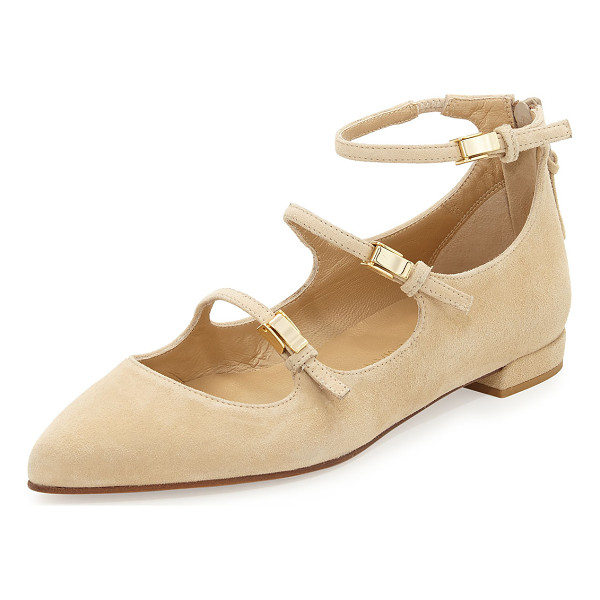 STUART WEITZMAN Flippy Three-Strap Mary Jane Flat - ONLYATNM Only Here. Only Ours. Exclusively for You. Stuart...