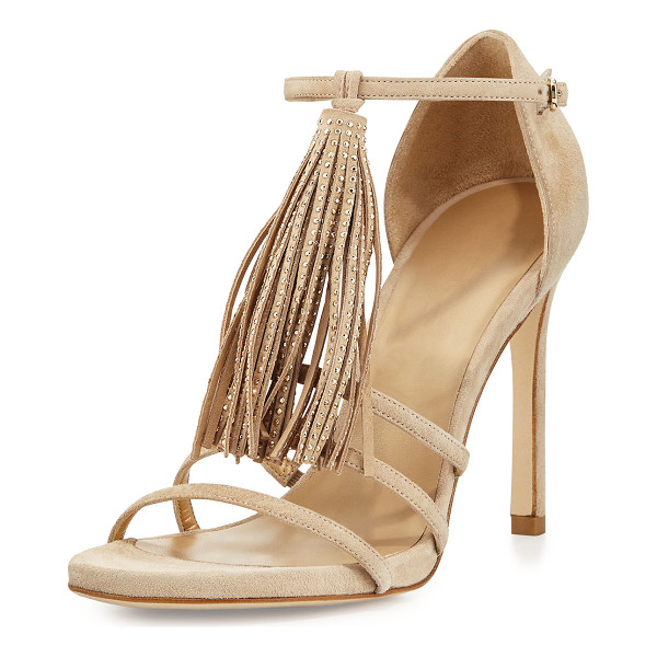 STUART WEITZMAN Frabtional Suede Tassel Sandal - ONLYATNM Only Here. Only Ours. Exclusively for You. Colors,...