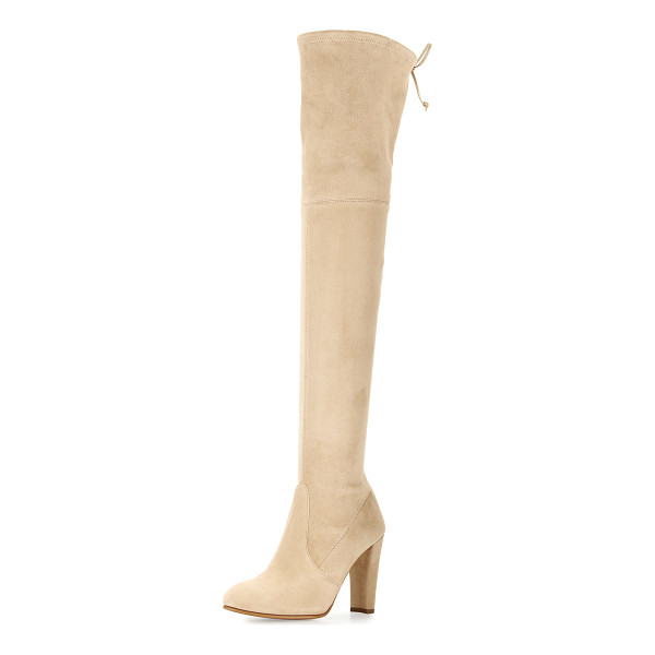 "STUART WEITZMAN Highland Suede Over-The-Knee Boot - Stuart Weitzman suede over-the-knee boot. 24""H stretch"