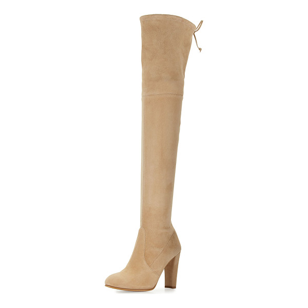 "STUART WEITZMAN Highland Suede Over-the-Knee Boot - Stuart Weitzman suede over-the-knee boot. 24.1""H stretch..."