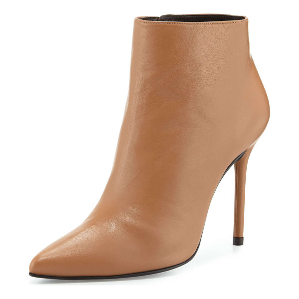"STUART WEITZMAN Hitimes leather ankle boot - Stuart Weitzman leather ankle bootie. 4. 5"" covered heel...."