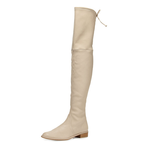 "STUART WEITZMAN Lowland Leather Over-the-Knee Boot - Stuart Weitzman napa leather over-the-knee boot. 24""H"