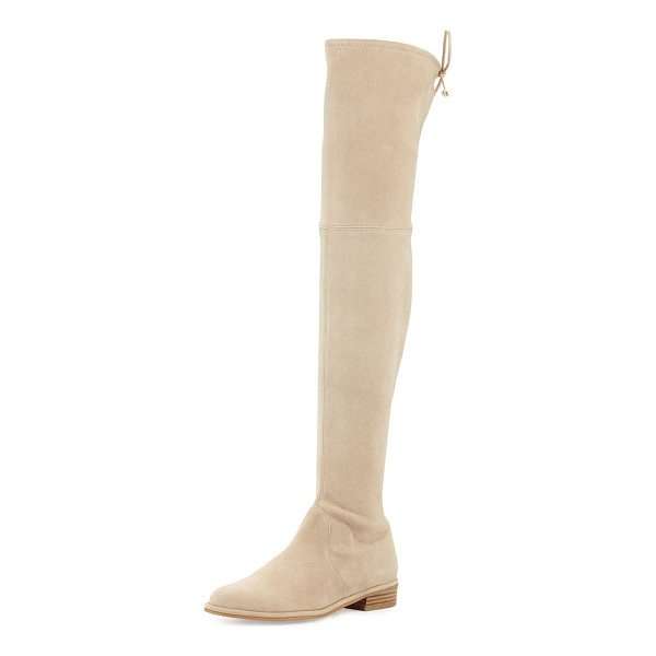 "STUART WEITZMAN Lowland Suede Over-the-Knee Boot - Stuart Weitzman suede over-the-knee boot. 24""H stretch..."