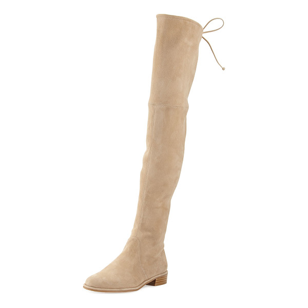 "STUART WEITZMAN Lowland Suede Over-the-Knee Boot - Stuart Weitzman suede over-the-knee boot. 24""H stretch"