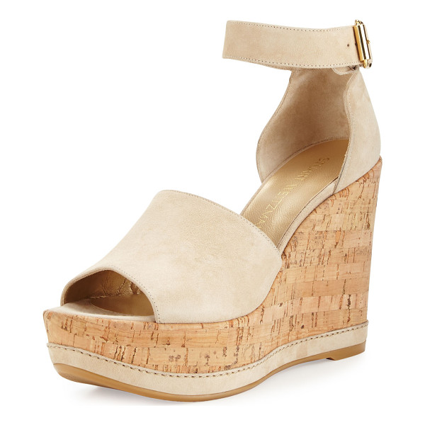 STUART WEITZMAN Sohogal Suede Wedge Sandal - ONLYATNM Only Here. Only Ours. Exclusively for You. Stuart