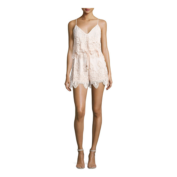 "SUBOO Prairie Broderie Anglaise Playsuit - Suboo ""Prairie"" camisole-style romper in broderie anglaise"