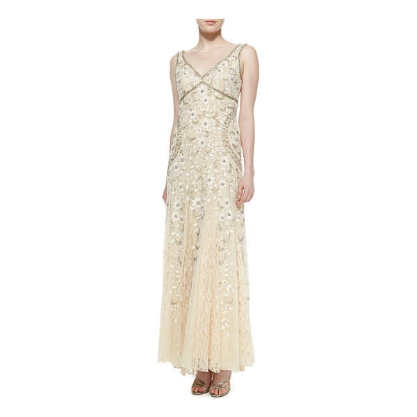 SUE WONG Sleeveless beaded lace bottom gown - Top-beaded gown by Sue Wong with lace skirt. Recommended as...