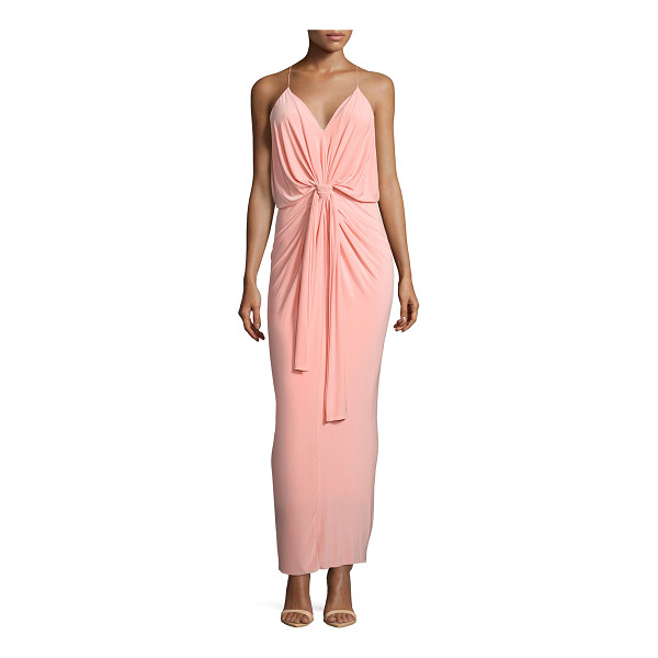 """T-BAGS LOS ANGELES Sleeveless tie-front maxi dress - T Bags jersey maxi dress. Approx. length: 50""""L down center..."""