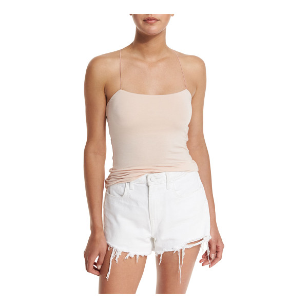 T BY ALEXANDER WANG Strappy Stretch Jersey Tank - T by Alexander Wang stretch jersey tank. Features an open...
