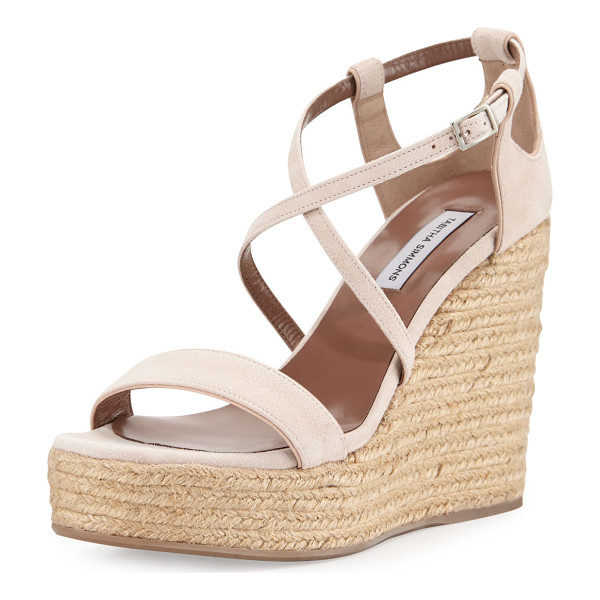 TABITHA SIMMONS Jenny suede espadrille wedge sandal - Tabitha Simmons kid suede sandal, detailed with cutouts at...