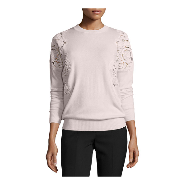 "TED BAKER Tae Lace-Cutout Sweater - Ted Baker London ""Tae"" sweater with lace-pattern..."