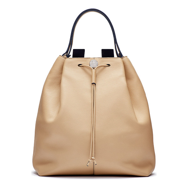 THE ROW Backpack 10 leather hobo bag - Smooth calfskin with palladium hardware. Contrast leather...