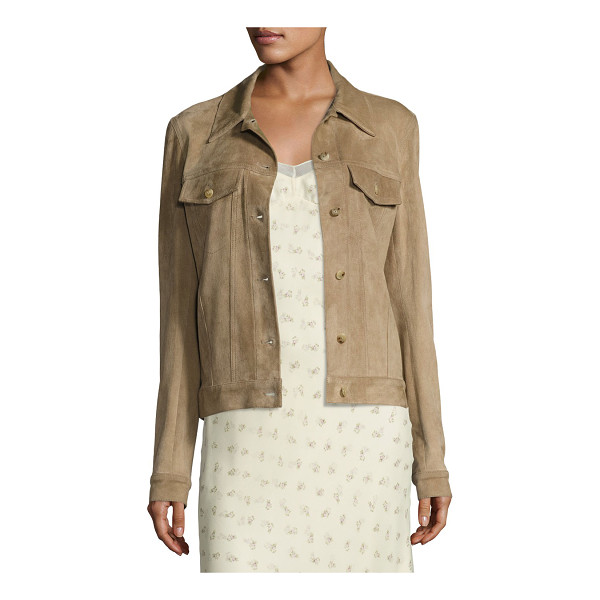 "THE ROW Coltra Lambskin Leather Jacket - THE ROW ""Coltra"" jacket in soft lambskin leather. Spread..."