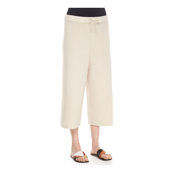 THE ROW Cropped Cashmere/Silk Sweatpants - THE ROW sweatpants in super-soft cashmere-silk blend. Flat...